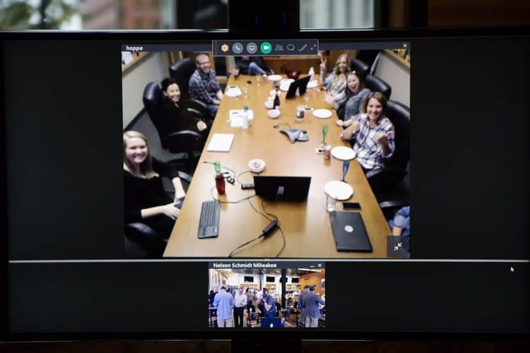 We celebrated with our Madison office too, connecting through video chat.